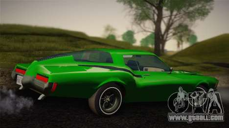 Buick Riviera 1972 Carbine Version for GTA San Andreas back left view