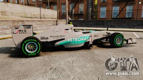 Mercedes AMG F1 W04 v4 for GTA 4 left view