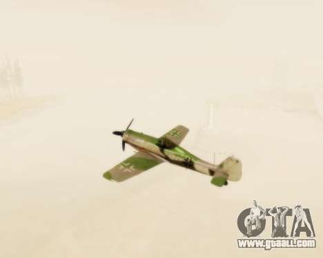 Focke-Wulf FW-190 D12 for GTA San Andreas inner view