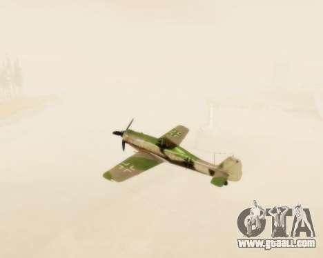 Focke-Wulf FW-190 D12 for GTA San Andreas inner view