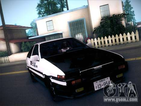 Toyota Trueno AE86 Initial D 4th Stage for GTA San Andreas