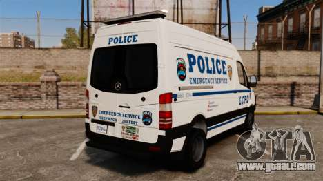 Mercedes-Benz Sprinter 3500 Emergency Response for GTA 4 back left view