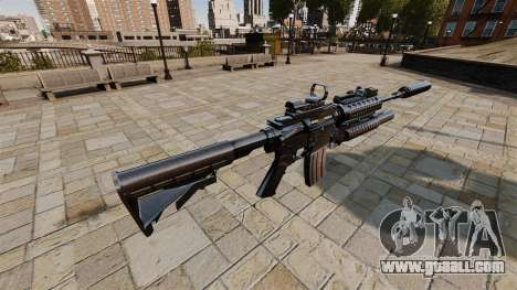 Automatic carbine M4A1 SOPMOD for GTA 4 second screenshot