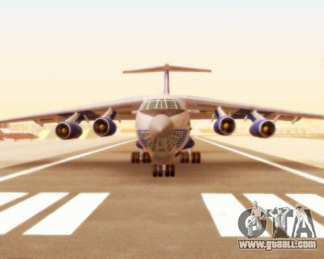 Il-76td Silk Way for GTA San Andreas left view