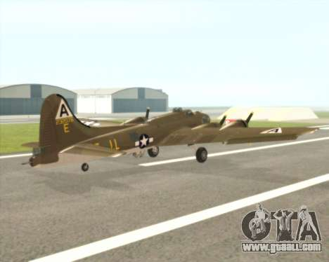 B-17G for GTA San Andreas right view