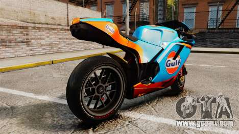 Ducati 848 Gulf for GTA 4 left view