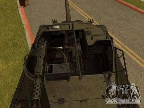 M18-Hellcat for GTA San Andreas back view