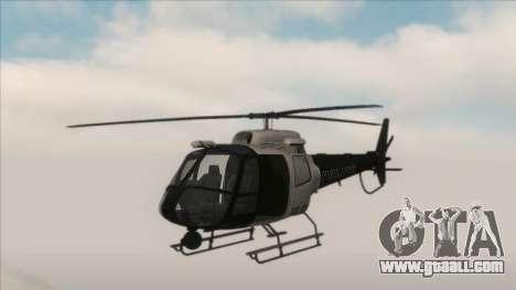 Police Maverick from GTA V for GTA San Andreas left view