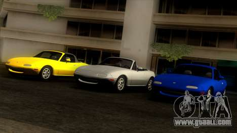 Mazda MX-5 Miata (NA) 1989 for GTA San Andreas side view