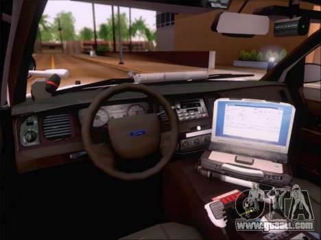 Ford Crown Victoria San Andreas State Trooper for GTA San Andreas upper view