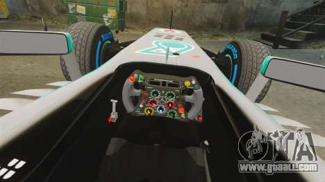 Mercedes AMG F1 W04 v3 for GTA 4 inner view