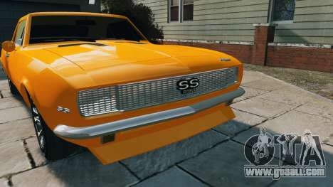 Chevrolet Camaro SS 1967 for GTA 4 right view