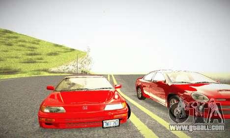 Honda CRX - Stock for GTA San Andreas inner view