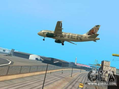 Airbus A319-111 Frontier Airlines Red Foxy for GTA San Andreas back view
