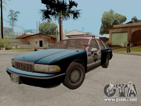 Chevrolet Caprice SFPD 1991 for GTA San Andreas