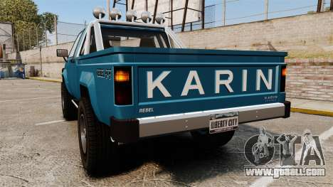 Karin Rebel 4x4 v2.0 for GTA 4 back left view