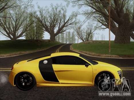Audi R8 V10 Plus for GTA San Andreas back left view