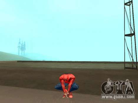 Crouch as the amazing Spider-man for GTA San Andreas third screenshot