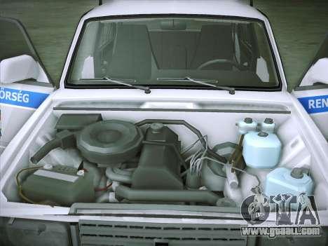 Lada 2107 Rendőrség for GTA San Andreas inner view