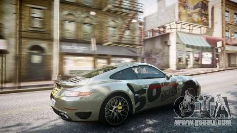 Porsche 911 Turbo 2014 for GTA 4 upper view