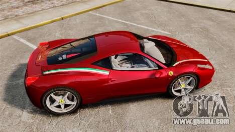 Ferrari 458 Italia 2010 Novitec for GTA 4 left view