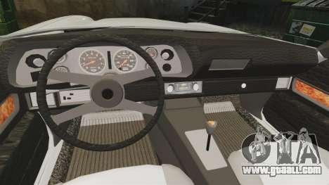 Chevrolet Camaro Z28 1970 v1.1 for GTA 4 inner view