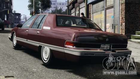 Buick Roadmaster 1996 for GTA 4 right view