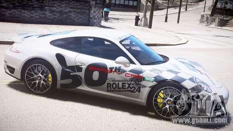Porsche 911 Turbo 2014 for GTA 4 left view