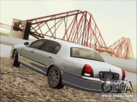 Lincoln Town Car 2010 for GTA San Andreas bottom view