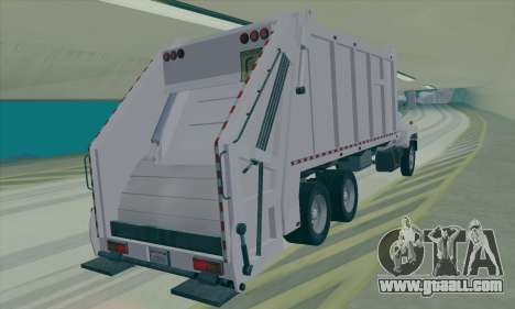 GMC C550 Topkick Trashmaster for GTA San Andreas back left view