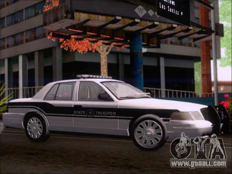 Ford Crown Victoria San Andreas State Trooper for GTA San Andreas back view