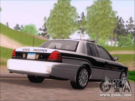 Ford Crown Victoria San Andreas State Trooper for GTA San Andreas right view