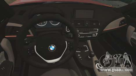 BMW M135i 2013 for GTA 4 back view