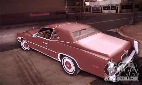 Cadillac Eldorado 1978 Coupe for GTA San Andreas left view