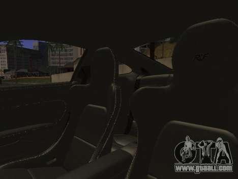 RUF RGT-8 for GTA San Andreas interior