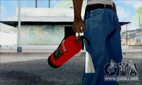 New fire extinguisher 2 for GTA San Andreas second screenshot