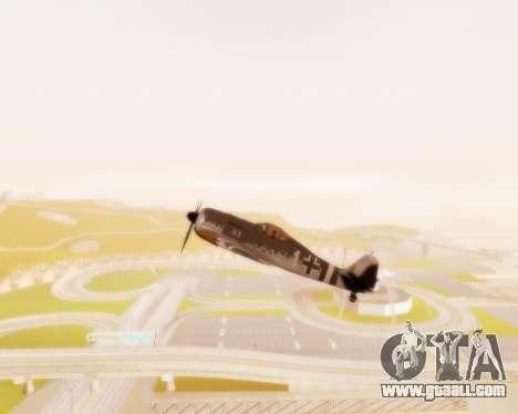 Focke-Wulf FW-190 A5 for GTA San Andreas inner view