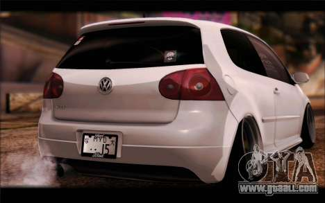 Volkswagen Golf MK5 Lowstance for GTA San Andreas left view