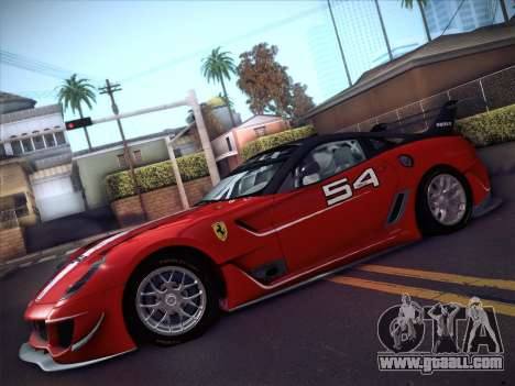 Ferrari 599XX 2012 for GTA San Andreas right view