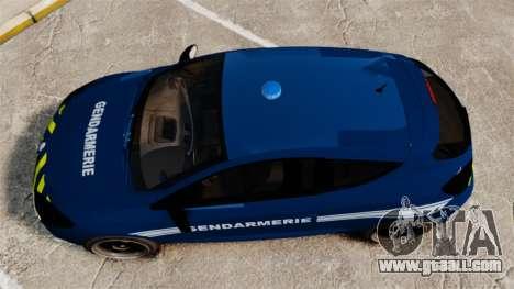 Renault Megane RS Gendarmerie Nationale [ELS] for GTA 4 right view