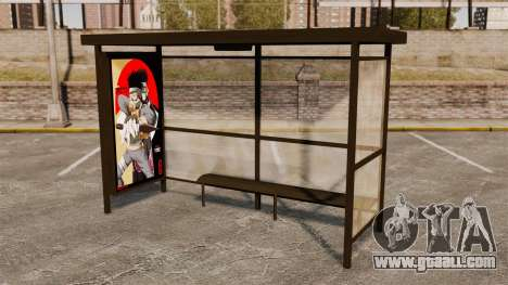 Bus stops Naruto for GTA 4 forth screenshot
