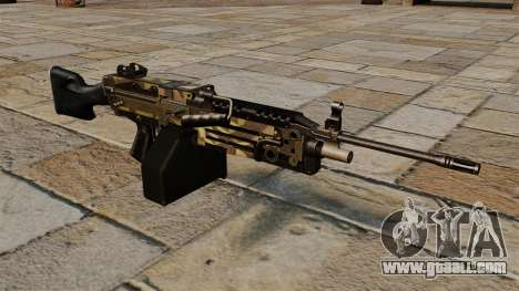 The M249 light machine gun Camo for GTA 4