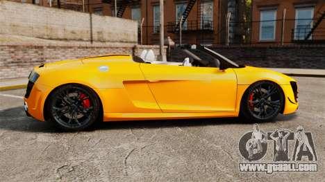 Audi R8 GT Spyder for GTA 4 left view
