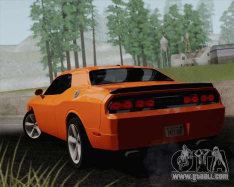 Dodge Challenger SRT-8 2010 for GTA San Andreas back left view