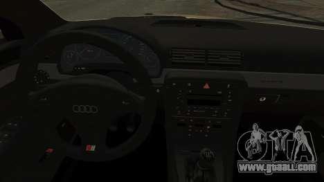 Audi S4 2004 for GTA 4 inner view