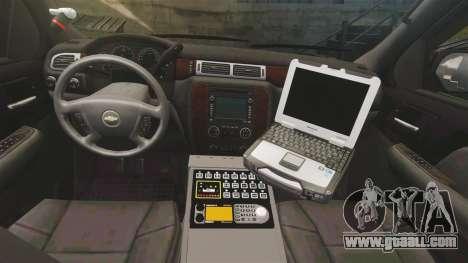 Chevrolet Tahoe Police [ELS] for GTA 4 back view