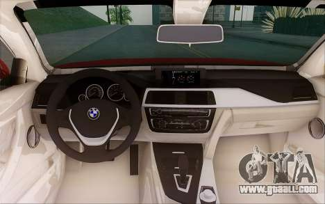 BMW 435i for GTA San Andreas inner view