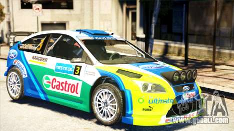 Ford Focus RS M Gronholm Rally Finland WRC for GTA 4 back left view