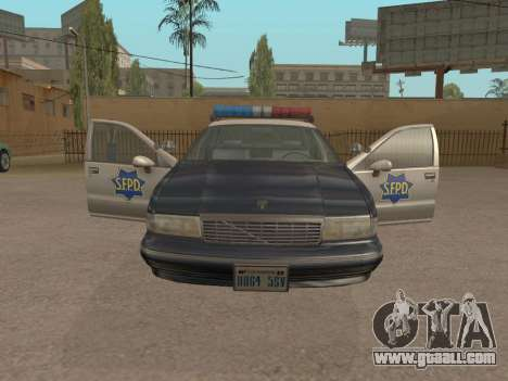 Chevrolet Caprice SFPD 1991 for GTA San Andreas back left view