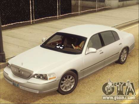 Lincoln Town Car 2010 for GTA San Andreas inner view